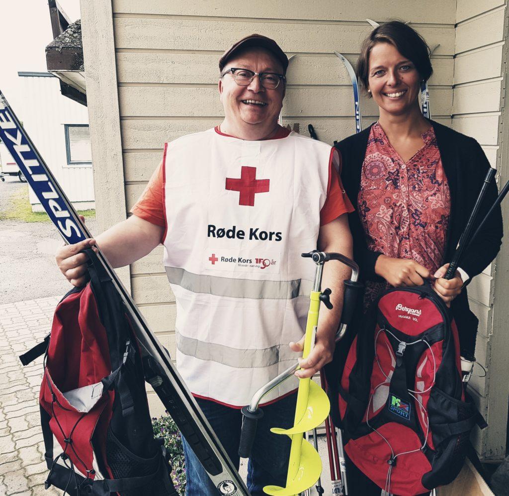Nordtro jobbsenter donerer utstyr til Nordreisa Røde Kors