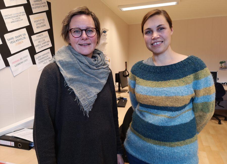 VEILEDERE: Haldis Sellevoll og Olaug Rønsen leder AMO-kurset på Nordtro.